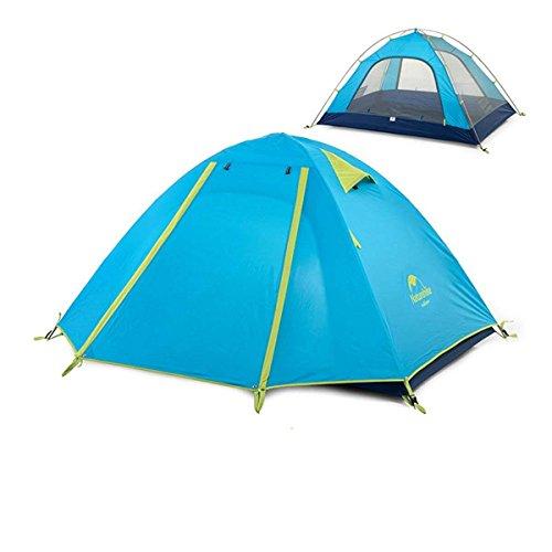 Azarxis 1-4 Personen Ultraleicht Zelt, 3 Saison Wasserdicht Zelt Double Layer für Outdoor Camping Wandern (Azurblau2, 2-3 Personen) -