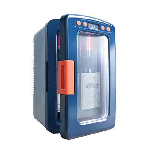 Auto Kühlschrank Mini Kühlschrank kann Vereisung einstellbare Temperatur Digitalanzeige Heizung und Kühlung Box Car Home Dual-Use 12L Blau (Mini-kühlschrank Tabelle,)