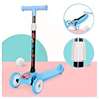 Ice-Beauty-ukzy Mini Micro Scooter, 3 Wheel Scooter Great For Girls And Boys Kid Ride On Toys Adjustable Height And PU Flashing Wheels Very Easy To Ride And It