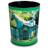 Läufer Papierkorb Motivposter 13 Liter Pferd und Fohlen am See