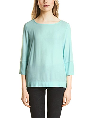 Street One T-Shirt Manches Longues Femme Grün (Crystal Blue 11269)
