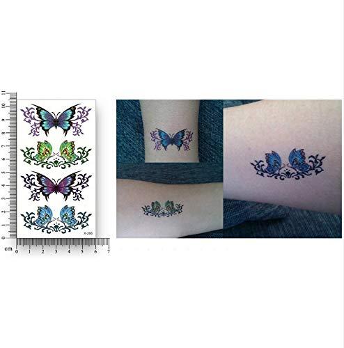 Lfvguiop falso tatuaggio temporaneo trasferimento d'acqua farfalla colorata adesivi donna ragazza femminile bellezza body art makeup live of song