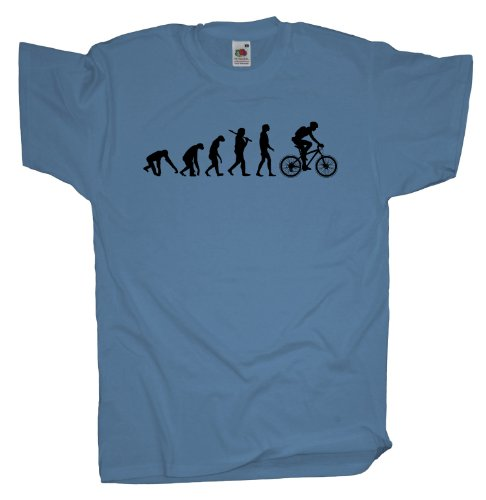 Ma2ca - Evolution - Biker Fahrrad T-Shirt Skyblue