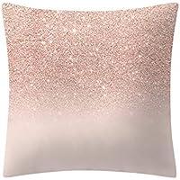 Kinlene Pillow Case,Rose Gold Pink Cushion Cover Square Pillowcase Home Decoratio Hidden Zipper Closure