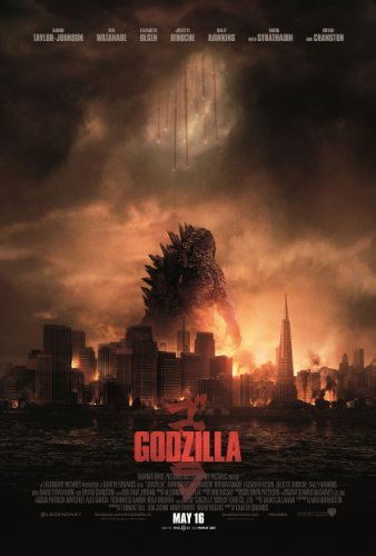 Godzilla (2014) 24X36 Movies Poster (THICK) - Aaron Taylor-Johnson, Elizabeth Olsen, Bryan Cranston by World Mall Group