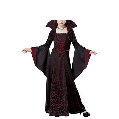 HANLING- Kinder Vampir Cosplay Halloween-Kleid for Mädchen-Hexe-Weinlese