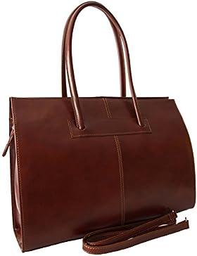 Sa-Lucca echt Leder Aktentasche Damen*Büro*Business*Arbeits*Tasche braun MADE IN ITALY