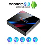 Byttron Android 9.0 TV Box Smart Media Box 4GB RAM 32GB ROM RK3318 Quad Core Bluetooth 4.2 WiFi 2.4G & 5G Ethernet 1USB 3.0 & 1USB 2.0 Set Top Box Support 4K Ultra HD Internet Video Player