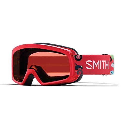 Smith Kinder Rascal Skibrille, Rot Schwarz, S