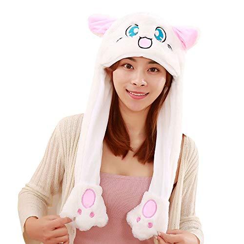 AOLVO [Trend der 2018] Tik TOK Funny Plüsch Bunny Hat Gap beweglich,/Jumping Kaninchen Ohr Hat Cute/Animal Hat Head-Wear Kostüm Zubehör mit Die Ohren in Creative Geschenk Spielzeug Hase