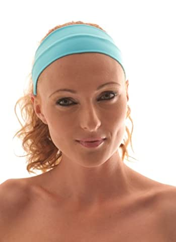 TURQUOISE Stretch Microfiber Headband, Beauty, Fitness, All Head Sizes, for Any Activity, They Are comfortable, stylish, fine and absorptive. Hight quality of material. Very pleasant to touch. Head Band, Sweat Band,