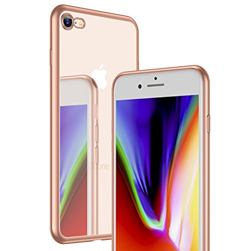 iPhone 7 Hülle, iPhone 8 Hülle, RANVOO Ultra Slim Soft TPU Case Extra Dünn Silikon Transparent Cover Durchsichtig Klar Hülle Weich Leicht Schutzhülle für Apple iPhone 7/8 (11,9 cm 4,7 Zoll)[Kabelloses Gold 2017