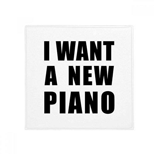 DIYthinker wollen Ich Eine Piano Anti-Rutsch Boden Pet Matte quadratisch Home Kitchen Tür 80cm Geschenk (Piano-tür-matte)