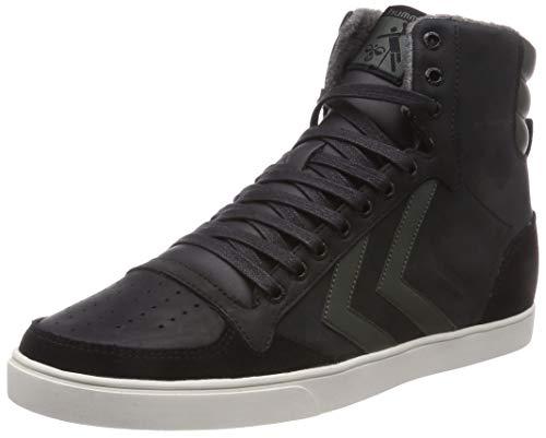 Hummel Unisex-Erwachsene Slimmer Stadil Duo Oiled HIGH Hohe Sneaker, Schwarz (Black/Rosin 2011), 42 EU
