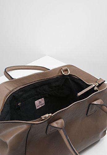 Anna Field Damen Handtasche aus hochwertigem Kunstleder ca. 26x37x16 cm - Henkeltasche für Frauen mit Abnehm- & längenverstellbarer Trageriemen, Tasche Steck- sowie Reißverschlussfach innen Taupe