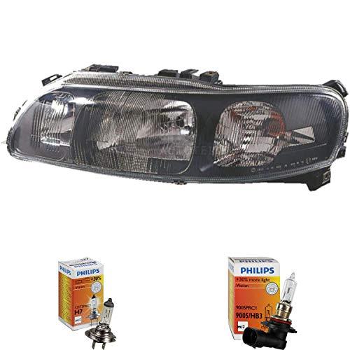 Halogen Scheinwerfer rechts S60 07.00-04.10 H7/HB3 inkl. PHILIPS - Scheinwerfer-birnen S60 Volvo