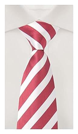 Cravate de Fabio Farini en rouge-blanche