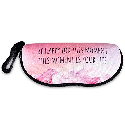 kwmobile Neopren Brillenetui mit Reißverschluss - Etui Tasche für Brille Sonnenbrille Lesebrille - Brillenbox Schutztasche - Brillenschutzhülle