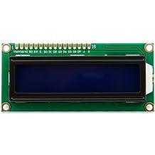 DaoRier LCD Módulo de pantalla 1602 16 X 2 Character DC 5 V Azul Blacklight para Breadboards Arduino