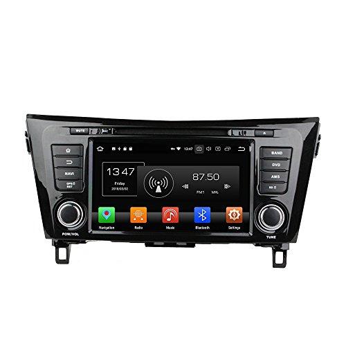 Android 9.0 Octa Core Autoradio Radio DVD GPS navegación Reproductor multimedia estéreo de coche para Nissan Qashqai X-TRAIL 2014 control de volante