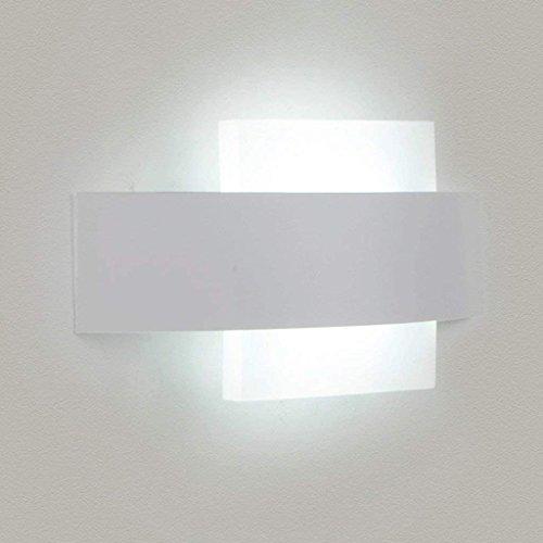 JU Kreative Art und Weise führte Nachttisch-Wandlampe Runde Warme Schlafzimmer-Wand-Lampen-Moderne Gang-Acryllampen