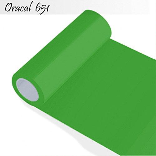 INDIGOS Oracal 651 Orafol glänzend, für Küchenschränke und Dekoration, Autobeschriftung, Schutzfolie Folie 5 m, Breite 50 cm, Farbe 63, lindgrün, ORACAL651-1-5mx50-63