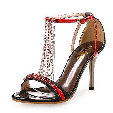 LvYuan Da donna-Sandali-Matrimonio Formale Serata e festa-Club Shoes-A stiletto-Sintetico Lustrini-Blu Rosso Argento Dorato sliver