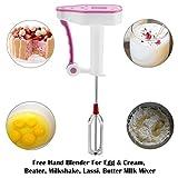 T4G Manual Hand Blender for Kitchen, Egg and Cream, Butter Milk Mixer, Milk Shake, Lassi Blender