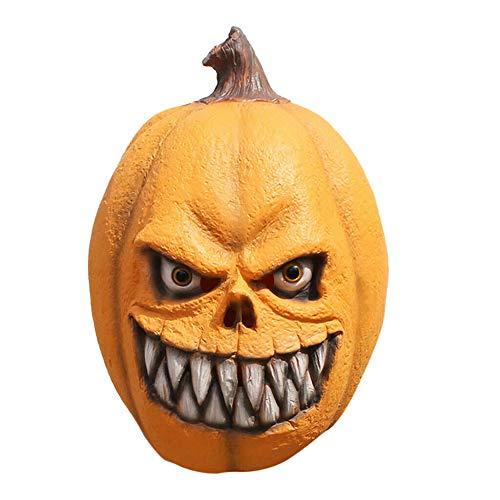 feeilty Scary Clown Maske Gesicht Neuheit Latex Horror Masken, Scary Pumpkin Mask Dress Up Requisiten Horror Cosplay Latex Realistisch für Halloween Party
