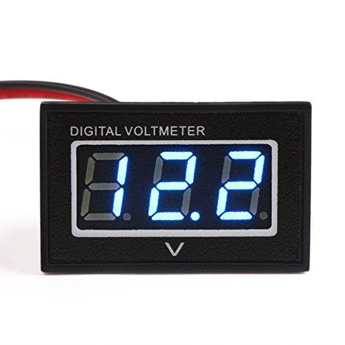 Droking 0.40' Mini Digital Voltmetro Gauge 3.0-30V DC LED Blu 12V Tester di Tensione Impermeabile