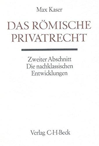 Handbuch der Altertumswissenschaft, Bd.3/3, Das römische Privatrecht