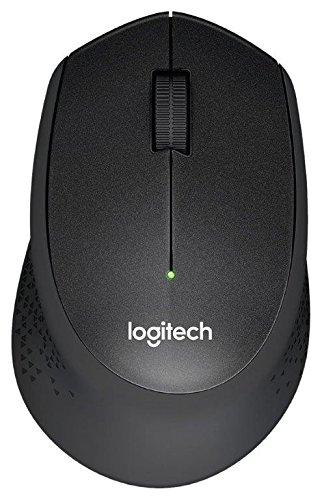 Logitech M330 Silent Plus kabellose, geräuschlose Maus (Optischer Laser, ohne Klickgeräusche, USB für Windows/MAC/Chrome OS/Linux) schwarz/grau