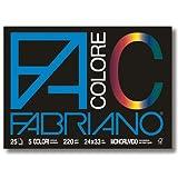 Fabriano 65251524 Colore, 24X33 cm, 220 G/Mq, 25 Fogli, Multicolore