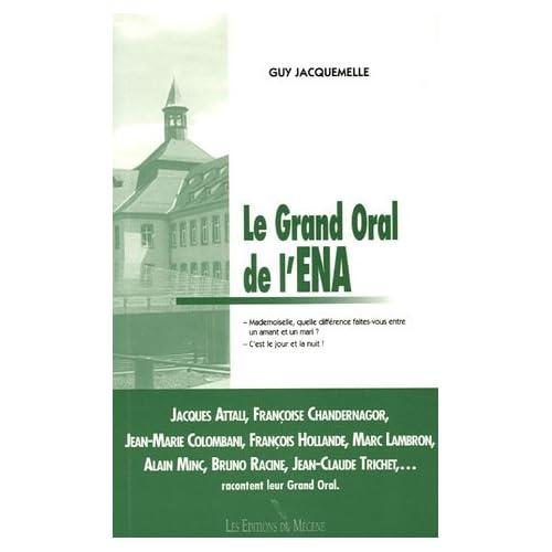 Le Grand oral de l'ENA