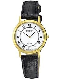Seiko Damen-Armbanduhr Solar Analog Quarz Leder SUP304P1