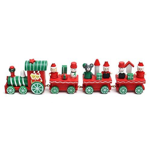 Toymytoy trenino in legno treno regalo natale con babbo natale pupazzo di neve natale decorazione giocattolo