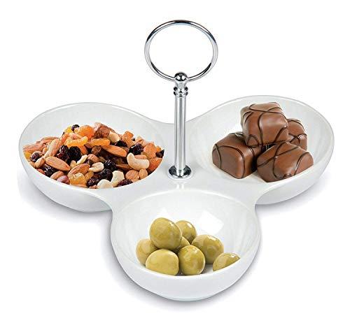 Porzellan Snack Servierteller Vorspeise snack Tapas Party Tisch Dippen Spüle NEU