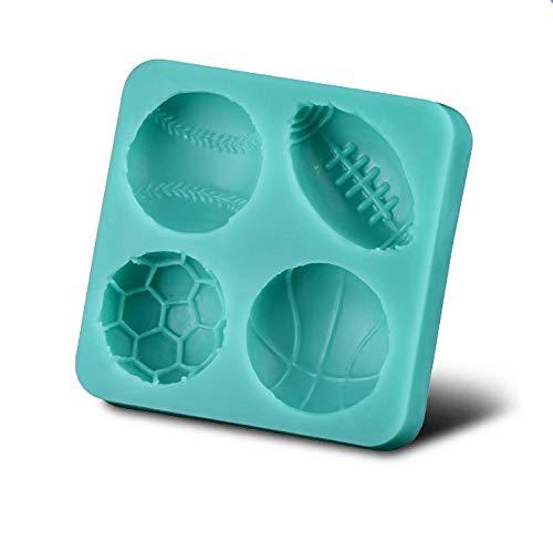 Silikonformen Für Schokolade Süßigkeit Formen Ball Sports Series Halb Basketball Fußball Rugby Und Tennis Ball Form Diy Silikonform Fondant Kuchen Dekoration Form