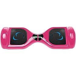 SmartGyro X1s Pink - Patinete Eléctrico Hoverboard, 6,5 Antipinchazos, LEDS, Batería de Litio Potente, Velocidad 10-12 Km/h, Self Balancing, Rosa