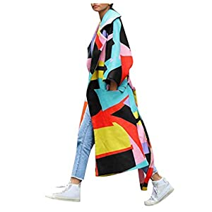 Toasye Elegant Bedruckter Langarmmantel FüR Damenmode Frauen Vorne Offen Gedruckt Strickjacke Anzug Langarm Streetwear Bluse Mantel