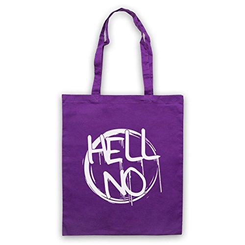 Hell No Slogan Umhangetaschen Violett