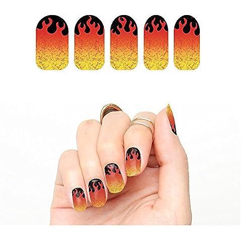 Envolturas de Uñas Tattify Llamas - Cuando Un Fuego Comienza a Arder (Juego de 22)