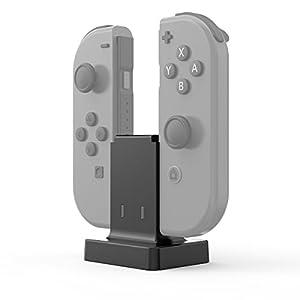 GameSir MasTechBox JoyCon Mini-Ladestation, Joy Con Mini-Ladegerät mit USB-Versorgung, Ladestation Controller Halter für 2 Switch Joy-Cons