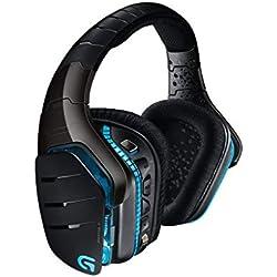 Logitech G933 Artemis Spectrum - Auriculares con micrófono para gaming, sonido envolvente profesional 7.1 y tecnología inalámbrica de 2,4 GHz para PC, Xbox One y PS4, Negro