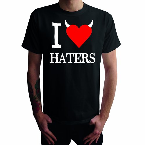 I don't love Haters Herren T-Shirt Schwarz