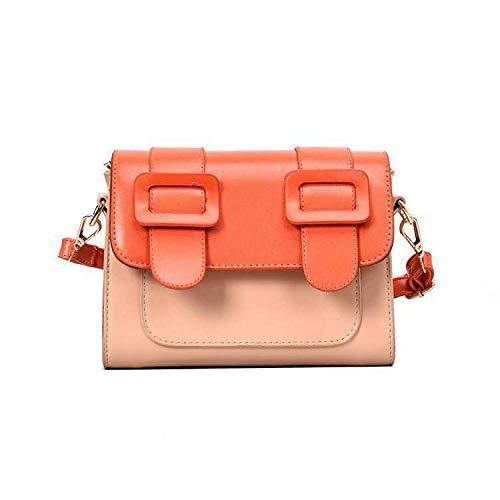 Bedolio Cambridge Tasche Kontrastfarbe Umhängetasche Mode Umhängetasche (Größe: 15cm * 9cm * 20cm), orange