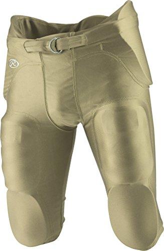 Rawlings Sporting Goods Youth integrierter Football Pants, Jungen, F2500P, Grün (Vegas Gold), XL -