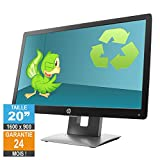 Ecran PC 20' HP Elite Display E202 IPS 1600 x 900 Anti-Reflet HDMI VGA DisplayPort...