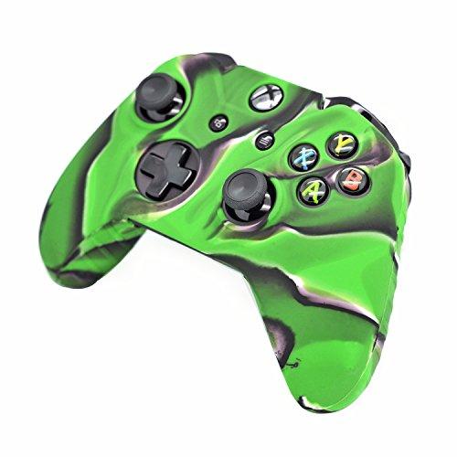 iprotect-funda-protectora-en-silicona-para-skin-verde-negro-microsoft-xbox-one