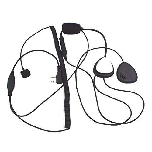 Mengonee 2 Pin-Finger-PTT Motorrad-Radio-Headset-Mikrofon Ersatz für Kenwood 3207 BAOFENG Ham Radio Walkie Talkie - Ham-radio-lautsprecher